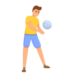 Volleyball pitch icon cartoon style vector