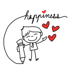cartoon concept happiness vector image vector image