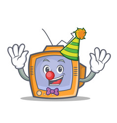 Clown tv character cartoon object vector