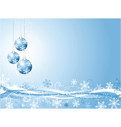 decorative winter background vector image