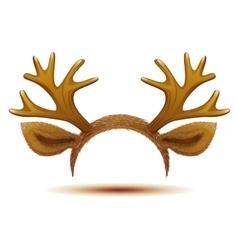 Mask deer antler and ears vector