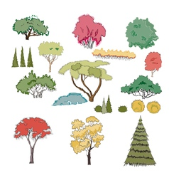A set of plants vector image