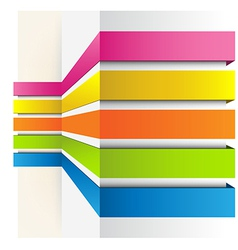 Graph background vector image vector image