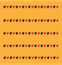 little hearts on a yellow background vector image vector image