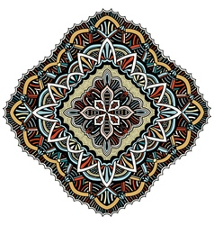 Ornament color card with mandala vector image vector image