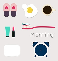 Set for the morning vector image