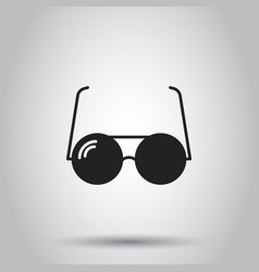 sunglass icon on isolated background business vector image vector image