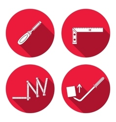 Tool icon set instrument for building folding vector