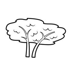 Tree plant forest icon vector