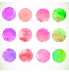 Watercolor circle design elements vector image vector image
