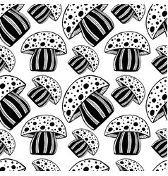 Beautiful seamless pattern with monochrome vector