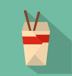 chinese fast food icon flat style vector image