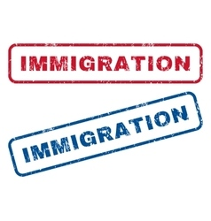 Immigration Rubber Stamps vector image vector image