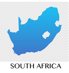 south africa map in africa continent design vector image