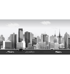 Black and white Landscape for game Seamless vector image vector image