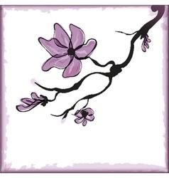 Cherry blossom sakura flower vector