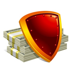 protection of money and payments detailed vector image vector image