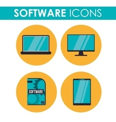 Software icons design vector image