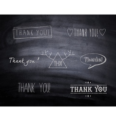 Thank you design vector image vector image