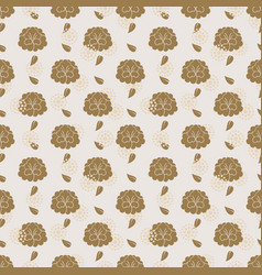 traditional asian floral pattern - chinese korean vector image