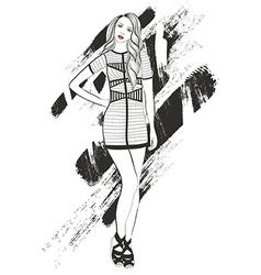 Young girl fashion vector image vector image