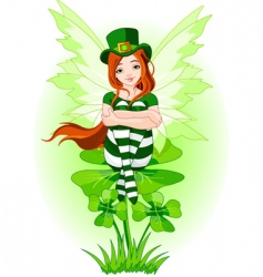 young St Patrick's fairy vector image