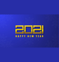 2021 new year card gold number 2021 vector image