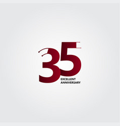 35 years excellent anniversary template design vector