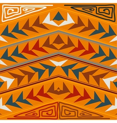 Abstract seamless texture in the tribal style vector image