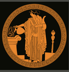 Ancient greek goddess aphrodite vector