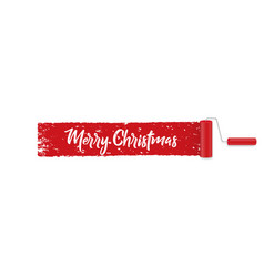 banner on a white background merry christmas vector image