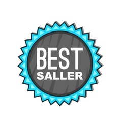 Best seller badge icon cartoon style vector image