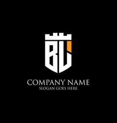 Bl initial shield logo design inspiration crown vector