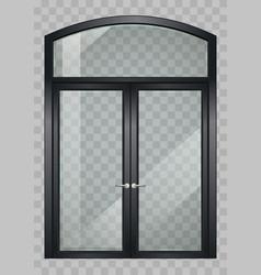 black balcony door vector image