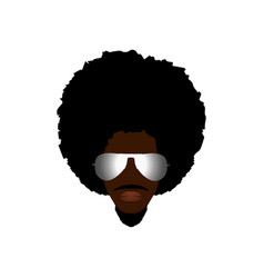 Black man portrait with afro man curly design vector