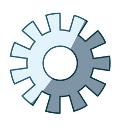 Blue shading silhouette of pinion model one vector