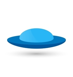 Blue ufo or a flying spaceship for vector