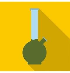 Bong for smoking marijuana icon flat style vector