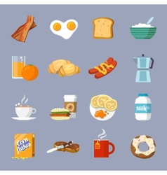 Breakfast icon flat vector image