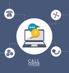 Call center technology tool vector