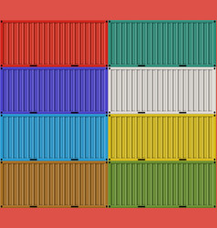 Cargo shipping containers for freight transport vector