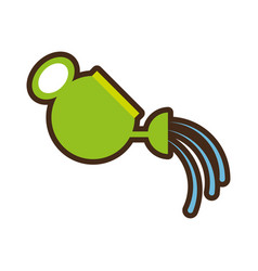 cartoon water can pouring gardening vector image