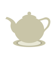 Ceramic teapot or kettle icon image vector