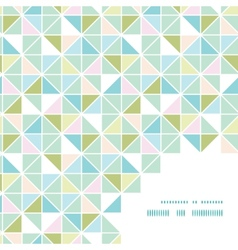 Colorful pastel triangle texture frame corner vector