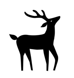 Deer with horns outline vector