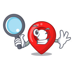 Detective navigation pin location map character vector