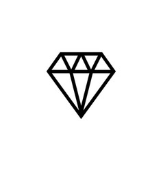 diamond jewelry gem stone flat icon vector image