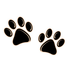 Dog or cat footprint icon on a white background vector