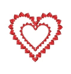 drawing valentine day heart decorative vector image