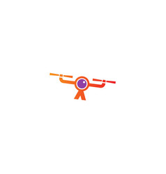 Drone fly camera logo vector